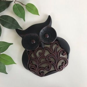 Wooden Owl Wall Decoration
